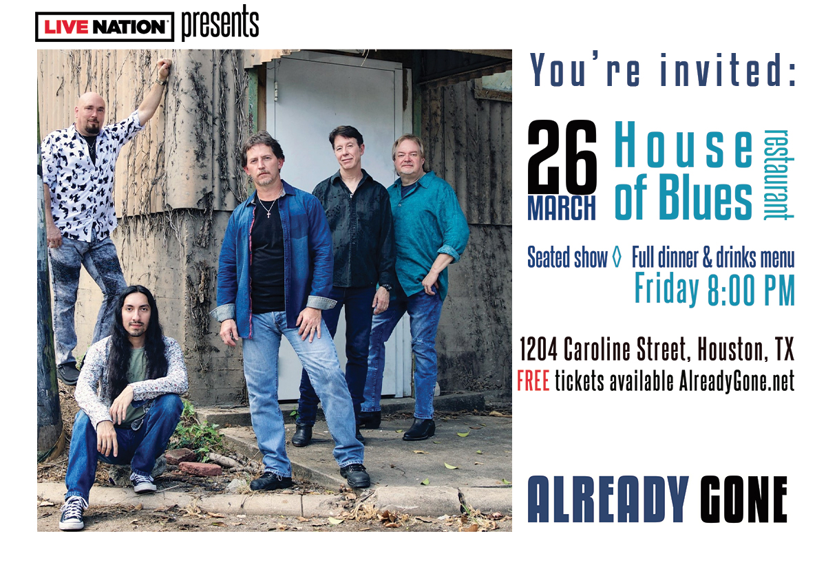 Already Gone Brings Back Live Music To Houston House Of Blues Restaurant