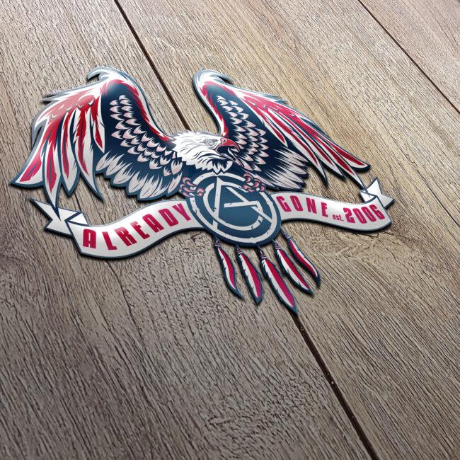 Already Gone American Eagle Bumper Sticker